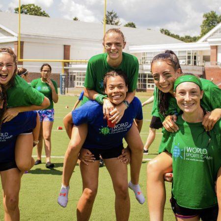 Sports camp avec des americains aux États-Unis